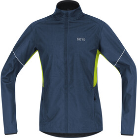 GORE WEAR R3 Partial Gore Windstopper Giacca Uomo, deep water blue/citrus green
